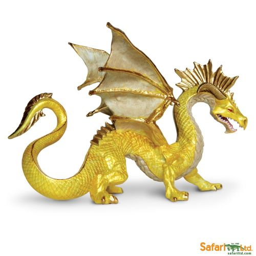 Safari Dragons - Drachen - Goldener Drache Figur